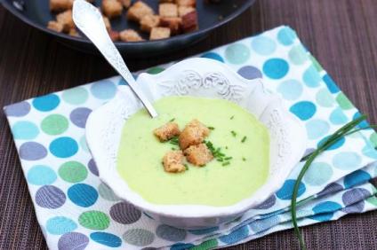 sopa pepinos y queso