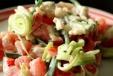 puerro y tomates
