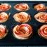 rosas de manzana antes de hornear