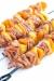 pinchos de jamon cocido piña y pimientos