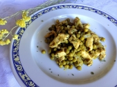 jugoso pollo con guisantes 2